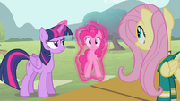 Twilight setting Pinkie Pie down S4E14