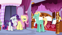 Zephyr pleased with himself; Fluttershy annoyed S6E11