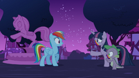 Zombie Twilight and Spike approach Rainbow S6E15