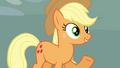 Applejack 'You up for some wheelbarrow races' S3E3.png