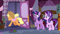 Applejack leaving Carousel Boutique S7E14.png