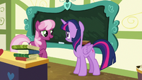 """Cheerilee """"now I'll just write it up again"""" S7E3"""
