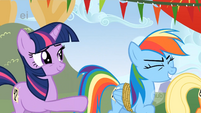 Dash laughing at Twilight S1E13