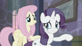 Fluttershy trying to comfort Rarity S5E02.png