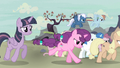 Mane Six and village ponies go after Starlight S5E2.png