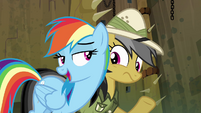 "Rainbow Dash ""you're lucky I don't"" S4E04"
