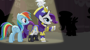 "Rarity ""thanks to the vision of Flair d'Mare"" S4E21"