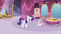 Rarity angry at Sweetie Belle S2E05