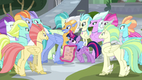 Sky Beak inviting Twilight to festival activities S8E6