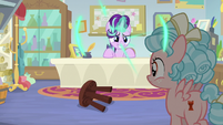 Starlight teleports behind her office desk S8E12