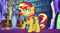 Sunset Shimmer looking at Starlight Glimmer EGS3