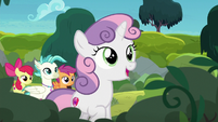 "Sweetie Belle sings ""a mountain terrace"" S8E6"