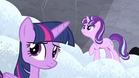 Twilight and Starlight hear Double Diamond S5E2