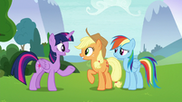 Twilight suggests doing AJ's activity first S8E9