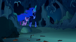 Twilight walking with Nightmare Moon S5E26