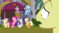 Unicorn 1 appears before main ponies S9E25