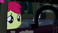 Apple Bloom looking at an upright horseshoe S5E6.png