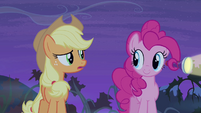 Applejack talking to Pinkie Pie S4E07