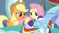 Applejack tries consoling Rainbow again S5E5