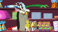 Discord thinking what to do with napkins S7E12