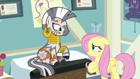 Fluttershy apologizing to Zecora S7E20