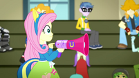 Fluttershy tapping the megaphone SS4