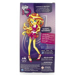 Friendship Games School Spirit Sunset Shimmer doll back of packaging
