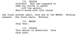 Magic Duel portion of original script