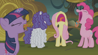 Main 4 ponies yelling S01E09