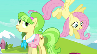 Ms. Peachbottom and Fluttershy S03E12