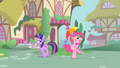 Pinkie Pie and Spike looking above them S1E15.png