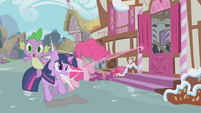 Pinkie Pie crashes into Twilight S1E03