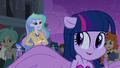 Principal Celestia and half-pony Twilight EG.png