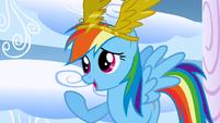 Rainbow Dash forgiving the bullies S1E16