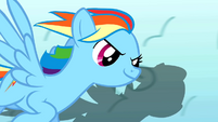 Rainbow Dash twirling clouds S1E16