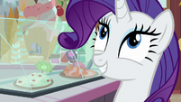 "Rarity ""chocolate with rainbow sprinkles"" S7E6"