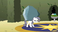 Rarity carrying large rock S2E1