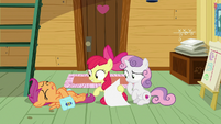 Scootaloo falls over on clubhouse floor S9E22