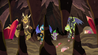 Spike and Ember look at crunching rock spikes S6E5