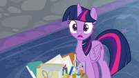 Twilight Sparkle gasps with shock S9E3
