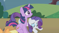 Twilight greeting the princess S1E10