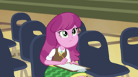 Cheerilee listening to Fluttershy CYOE2b