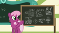 Cheerilee points at advanced physics equations S6E14.png