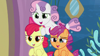 Cutie Mark Crusaders teasing Twilight S8E6