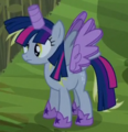 Derpy with Twilight costume ID S5E21.png
