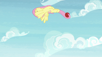 Fluttershy flipping through the air S9E15