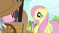 Fluttershy looking at wicker baskets S7E5