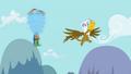 Gilda near spinning Rainbow Dash S1E5.png