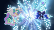 Princess Celestia and Princess Luna with Tree of Harmony S04E02