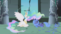 Princess Celestia talking with Princess Luna S1E2.png